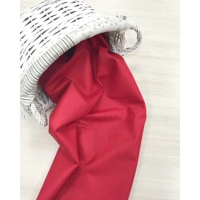 Польский хлопок  50х160см Однотонная красная