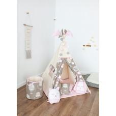 """Вигвам / типи , игровая палатка """"Воздушный шар"""" розовый цвет"""" , 100% эко-хлопок"""