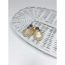 Ботиночки для кукол золотистый цвет 5.5 см