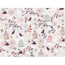 Ткань хлопковая Польша Премиум Райский сад 50*150