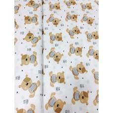Хлопковая ткань Польша 50*160см Мишки Тедди