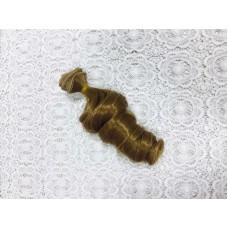 Волосы для кукол локон, карамель, 15 см , 1м