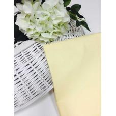 Хлопковая ткань Польша 50*160см Однотонный светло-желтый