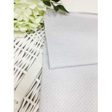 Хлопковая ткань Польша 50*160см Горошек 2мм светло-серый цвет