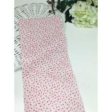 Хлопковая ткань Польша 50*160см Цветочки красные на белом цвете