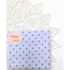 Хлопковая ткань Польша 50*160см звезды ярко-голубые на голубом 10мм