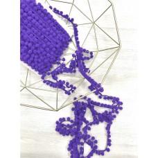 Тесьма с помпонами Польша 1см; 1м фиолетовый цвет
